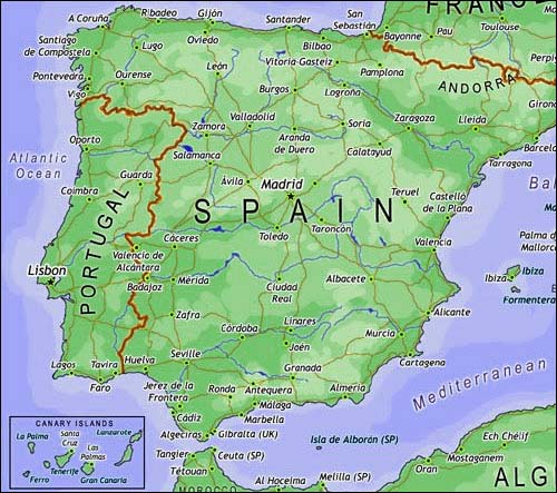 Map Of Spain Gran Canaria.Spain Hotels Map Of Spain